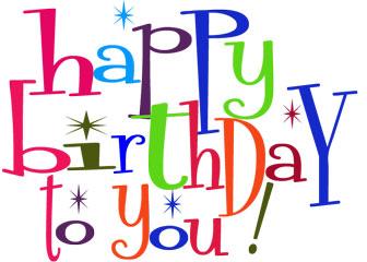 Wish you happy birthday clipart.