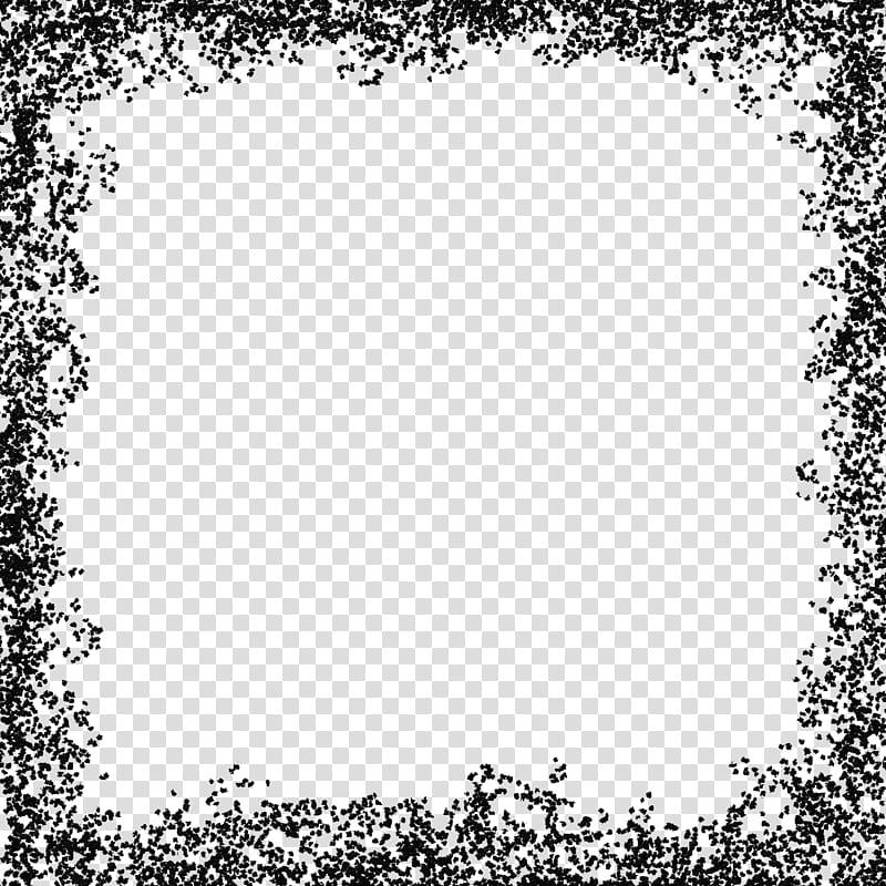 Wishful Borders, black border frame transparent background.
