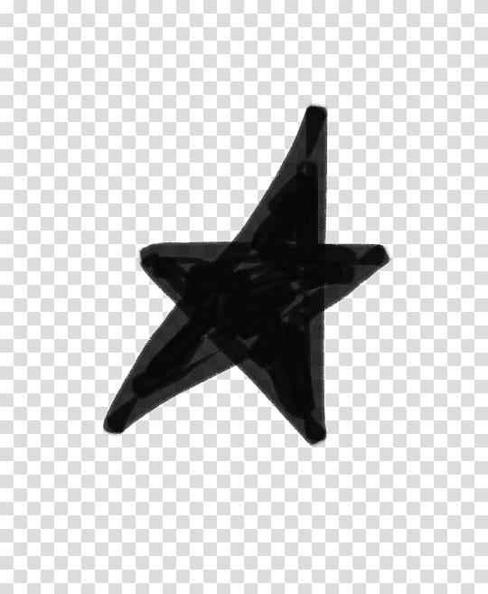 Wishful, black star transparent background PNG clipart.