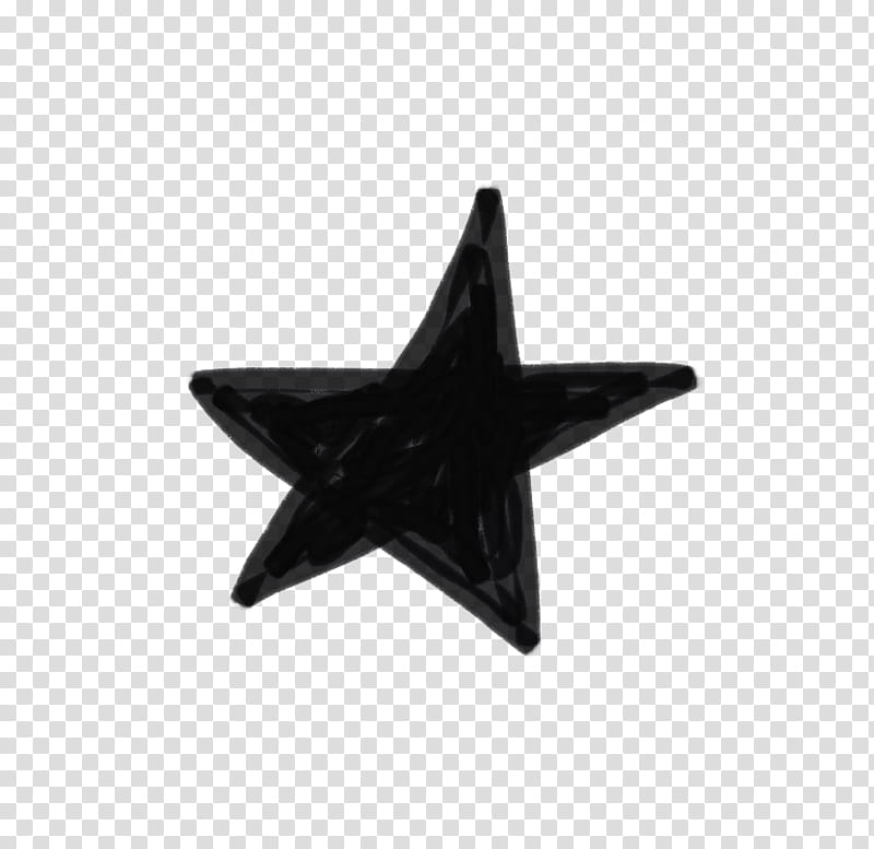 Wishful, black star illustration transparent background PNG.