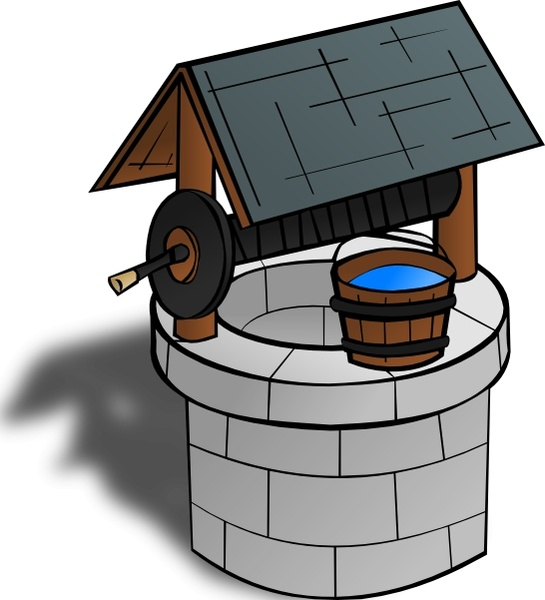 Wishing Well clip art Free vector in Open office drawing svg.