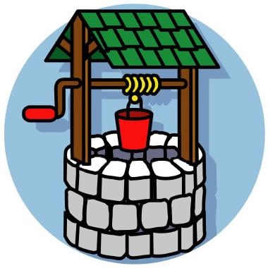 Wishing well clip art.