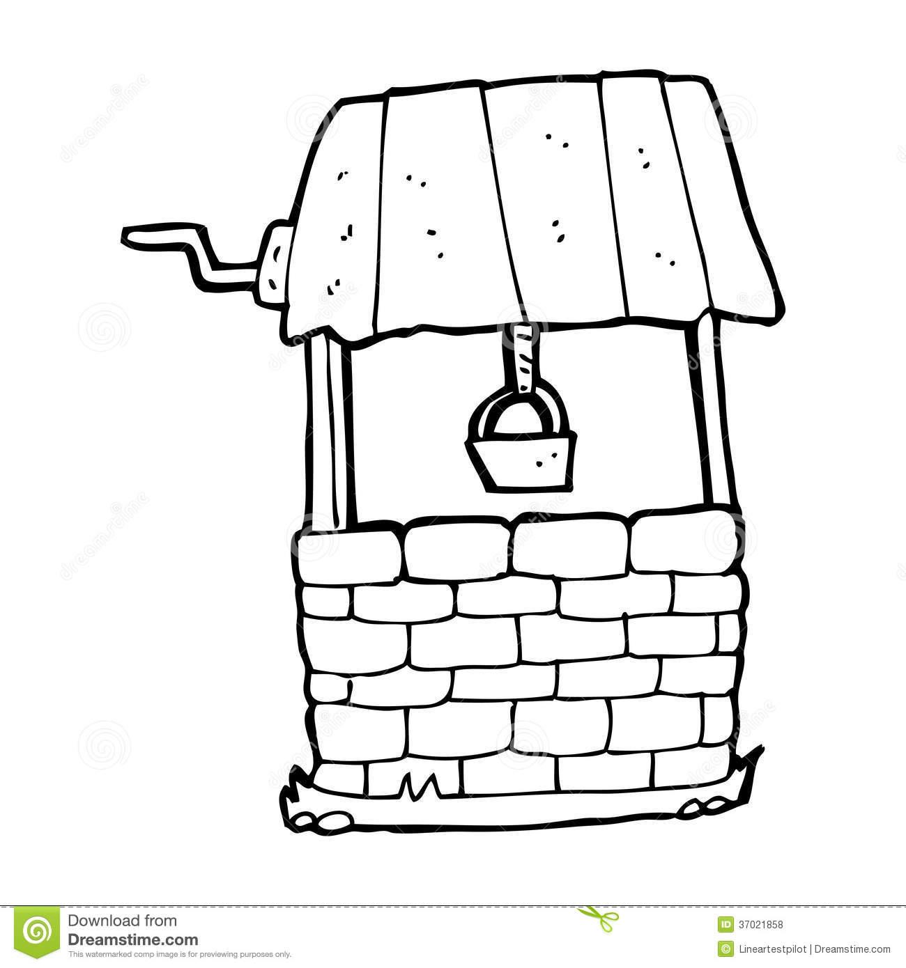 Cartoon wishing well stock illustration. Illustration of simple.