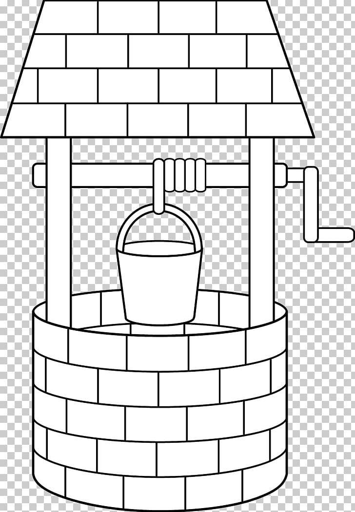 Wishing Well Water Well PNG, Clipart, Angle, Area, Black And White.