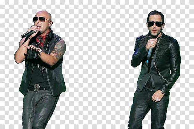 Wisin y Yandel, two singing men transparent background PNG.