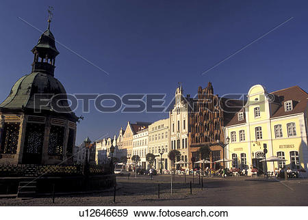 Stock Photograph of Germany, Wismar, Europe, Mecklenburg.