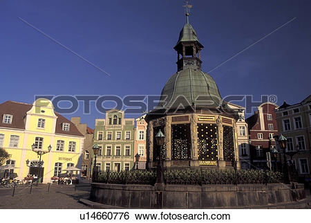 Stock Images of Germany, Wismar, Europe, Mecklenburg.
