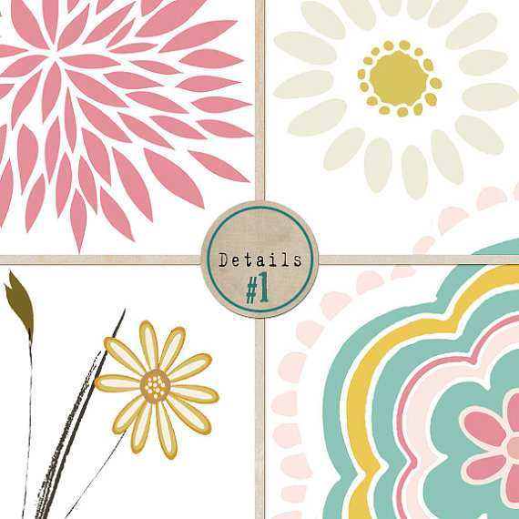 Modern Flower Clip Art Wispy Flower Clip Art Pastel #KXhGfJ.