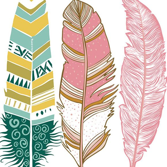 Pink Feather Clipart.