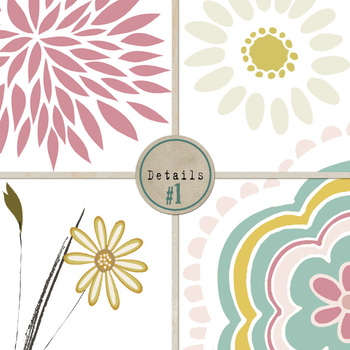 Wispy Floral Clip Art, Flowers, Leaves and Foliage, Mother\'s Day, Easter.
