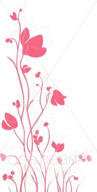 Pink Wildflower Clipart.