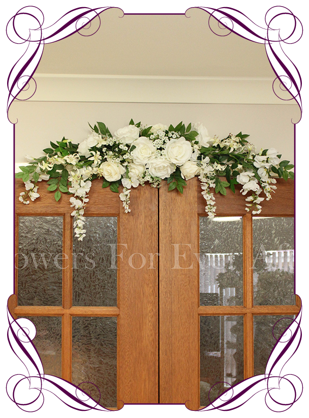 White Wedding Arbor / Arch & Table Decoration.