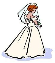 Wistful Bride Clipart.