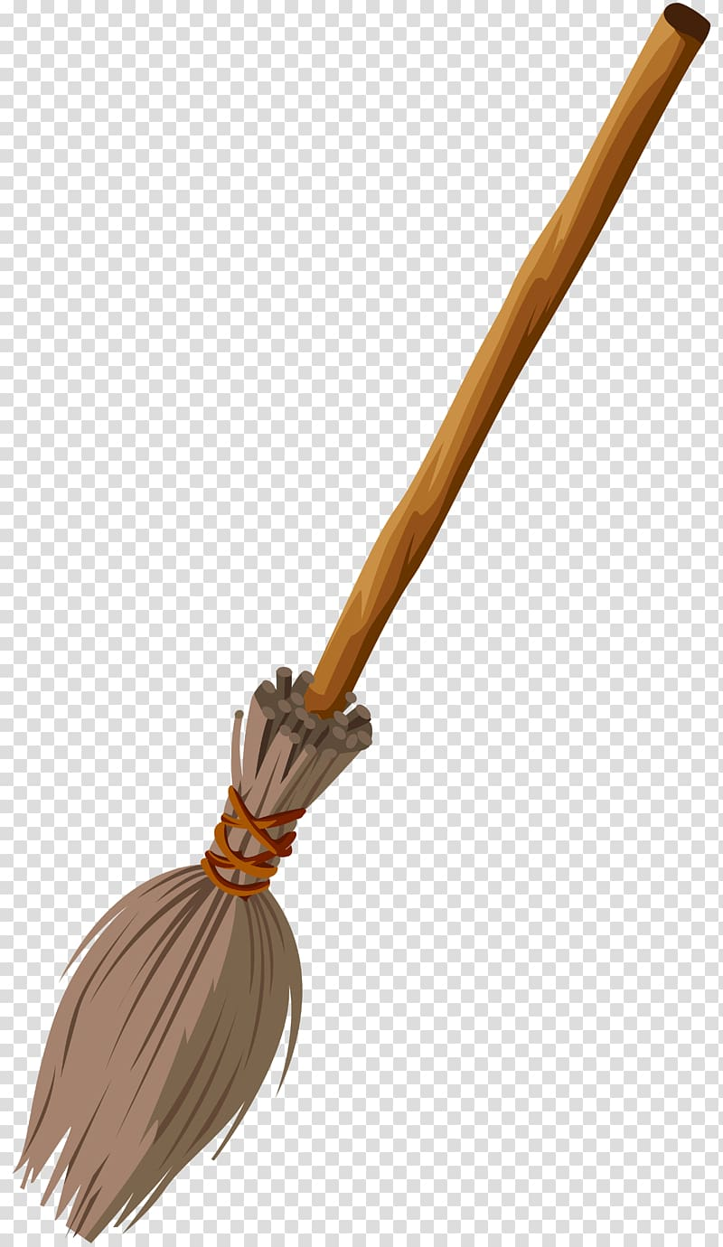 Beige and gray broomstick illustration, Witch\\\'s broom.