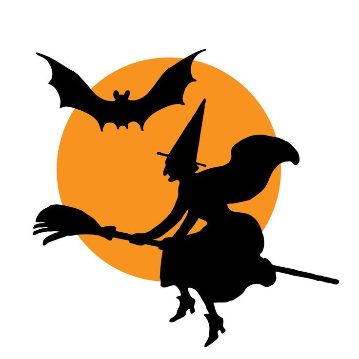 Halloween Witch Broomstick Clipart.