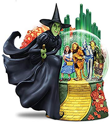 WIZARD OF OZ WICKED WITCH OF THE WEST Musical Glitter Globe Lights Up by  The Bradford Exchange.