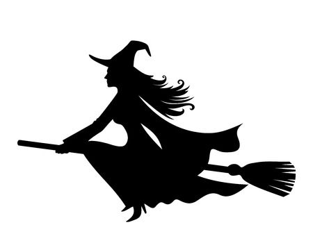 Witch clipart black and white 5 » Clipart Station.