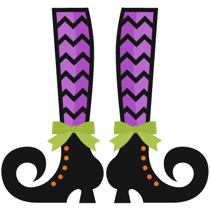 Witch Shoes SVG scrapbook cut file cute clipart files for silhouette.