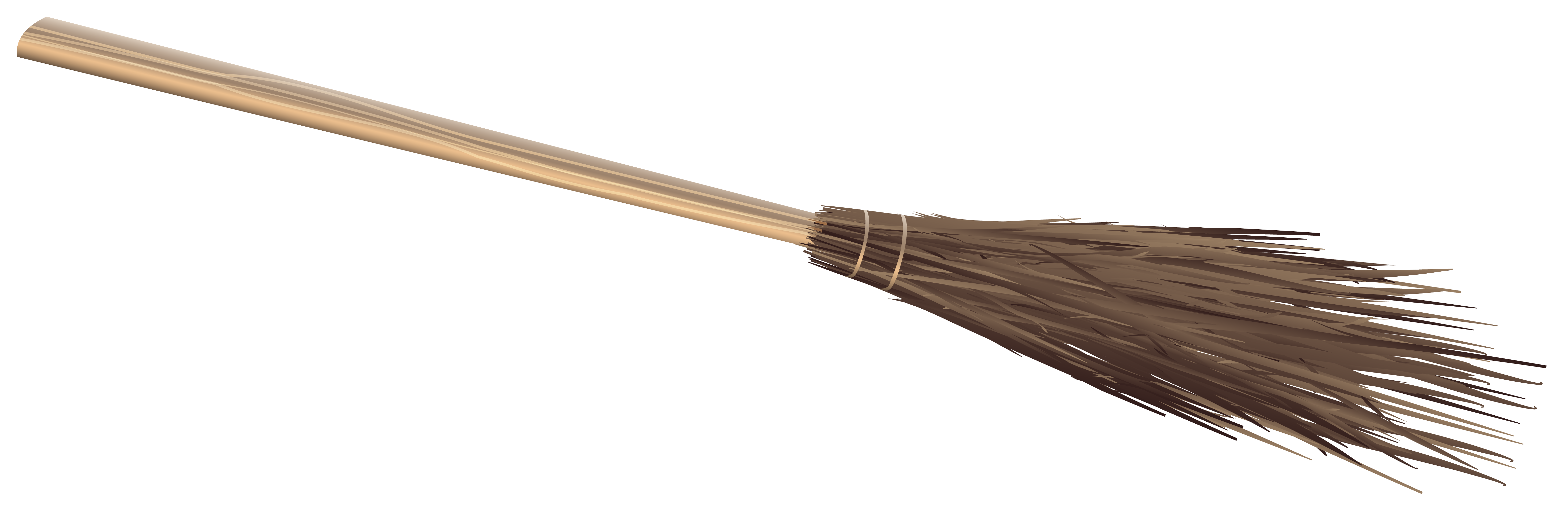 Witch Broom PNG Clipart Image.