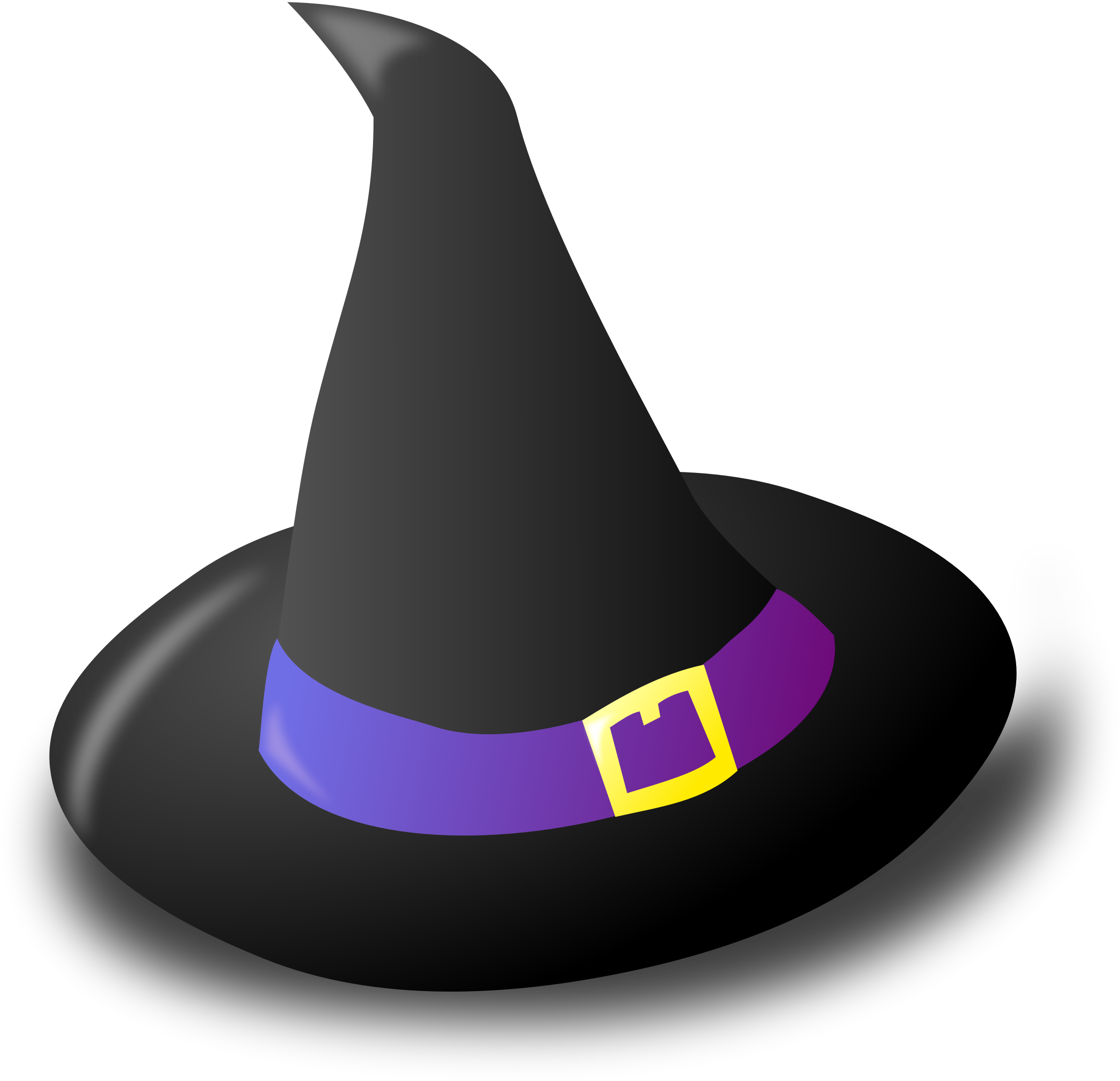 Black witch hat clipart.