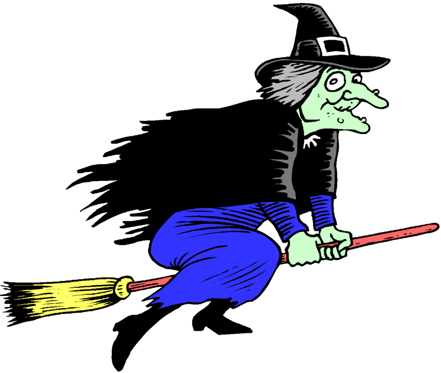 Witch Cartoon clipart.