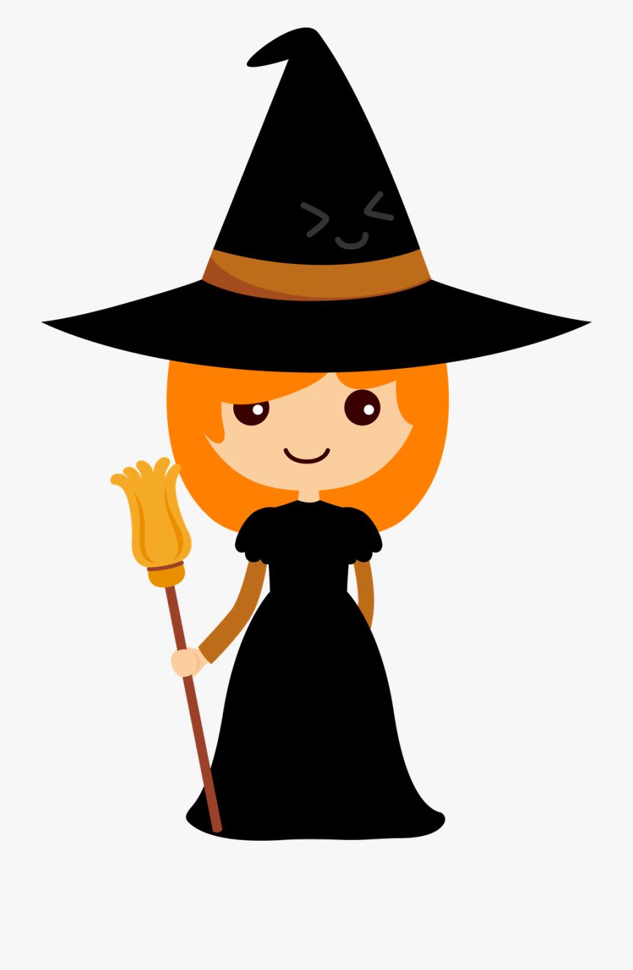Witch Clipart Orange.