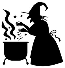 Witch Casting A Spell Clipart.