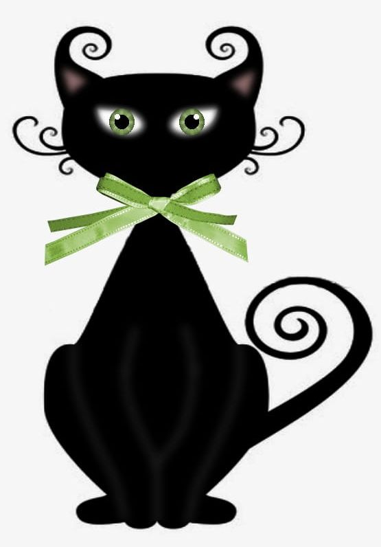 Witch Cat PNG, Clipart, Cat, Cat Clipart, Cat Clipart.