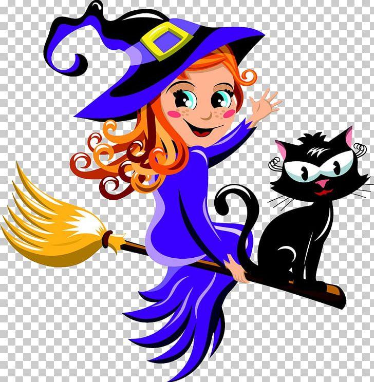 Black Cat Witchcraft Halloween PNG, Clipart, Artwork, Black.