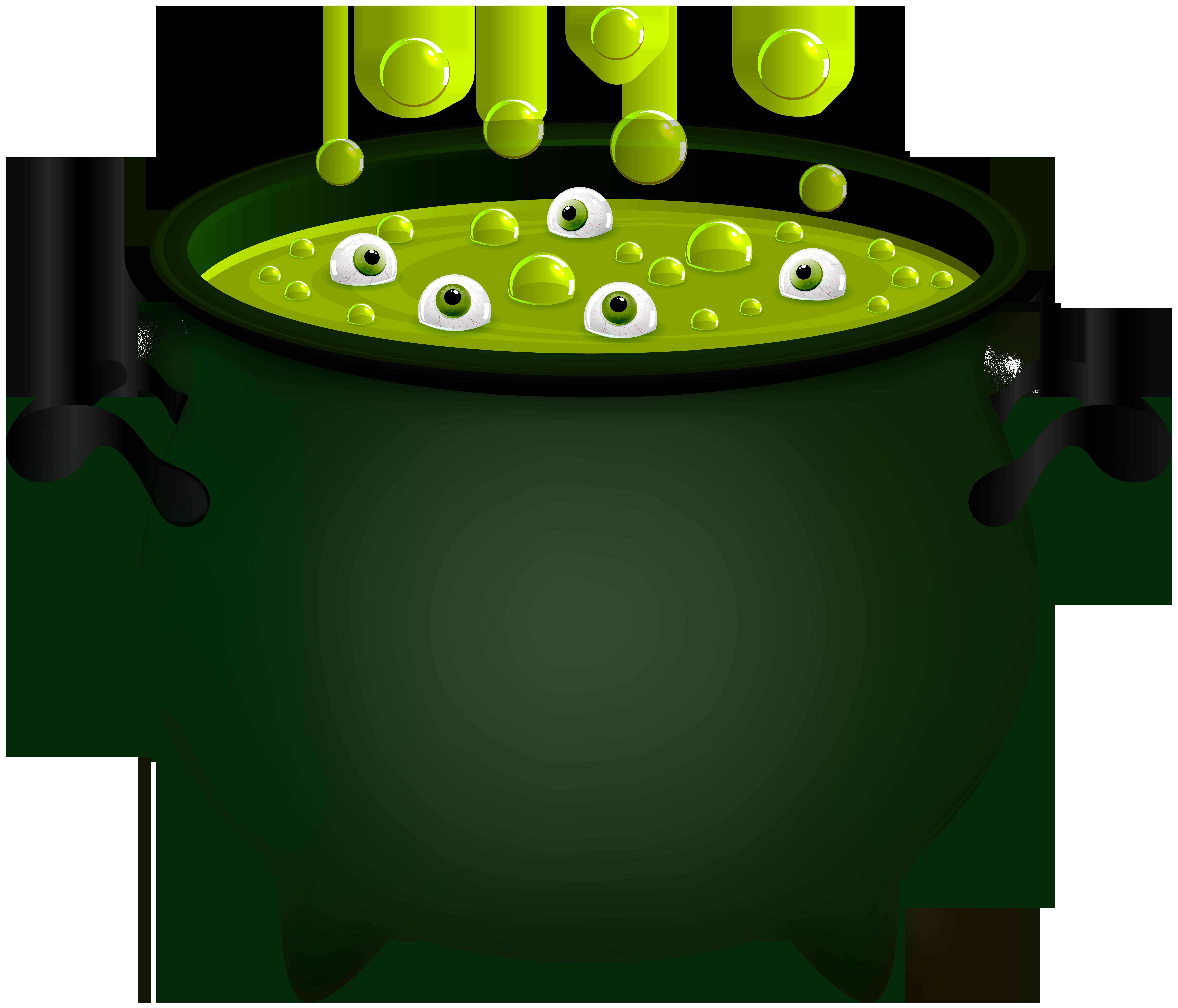 Witch Cauldron PNG Clip Art Image.