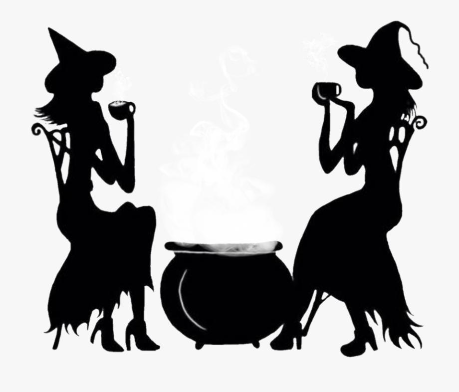 witches #cauldron #black #silhouette.