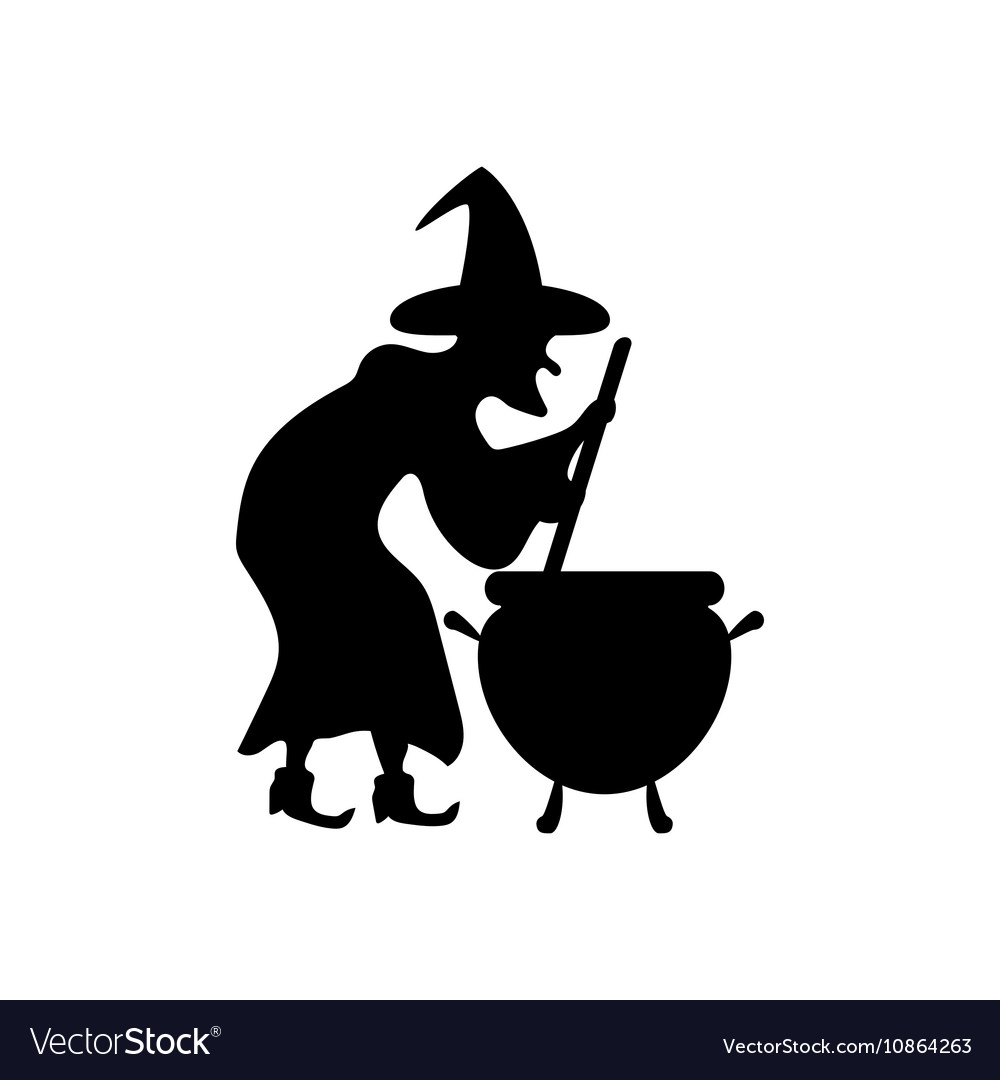 Witch silhouette.