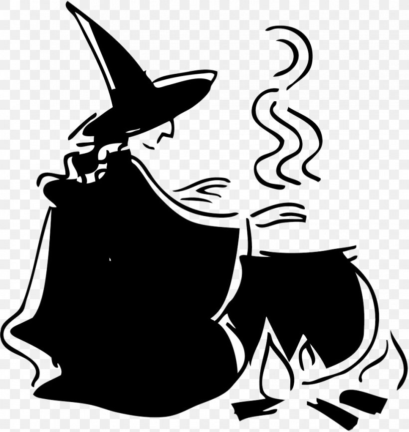 Scary Witch Halloween Cauldron Witchcraft Clip Art, PNG.