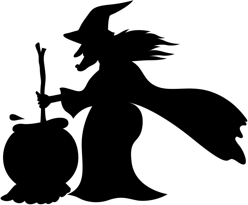 Free Witch And Cauldron Silhouette, Download Free Clip Art.
