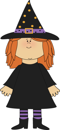 Cute Halloween Witch Clipart.