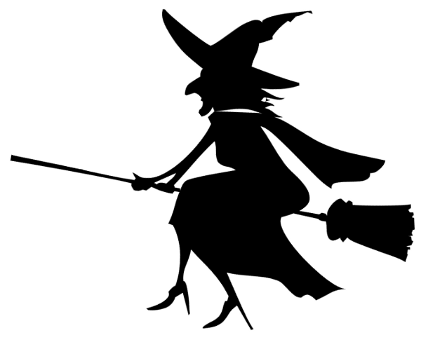 Flying Witch Clipart.