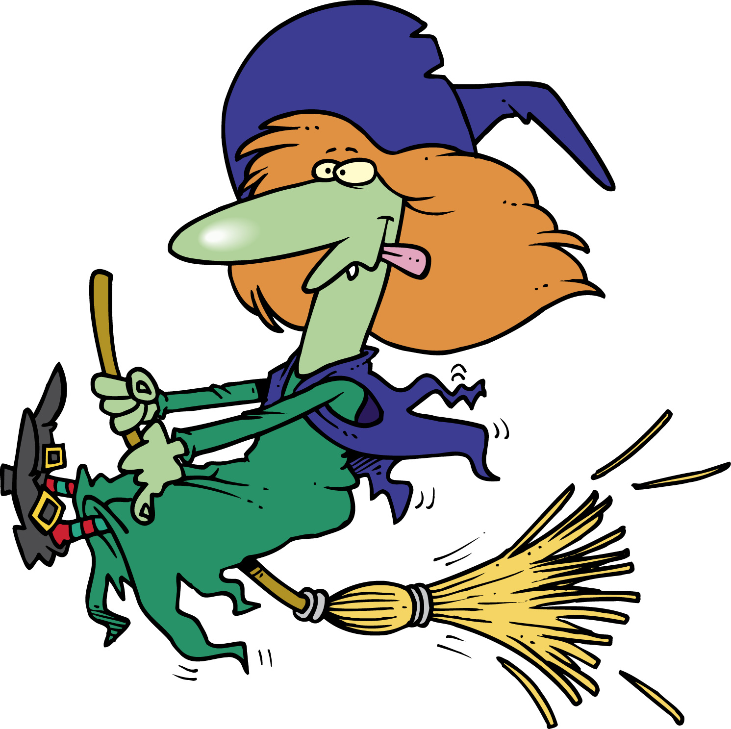 6 witch clipart fans.