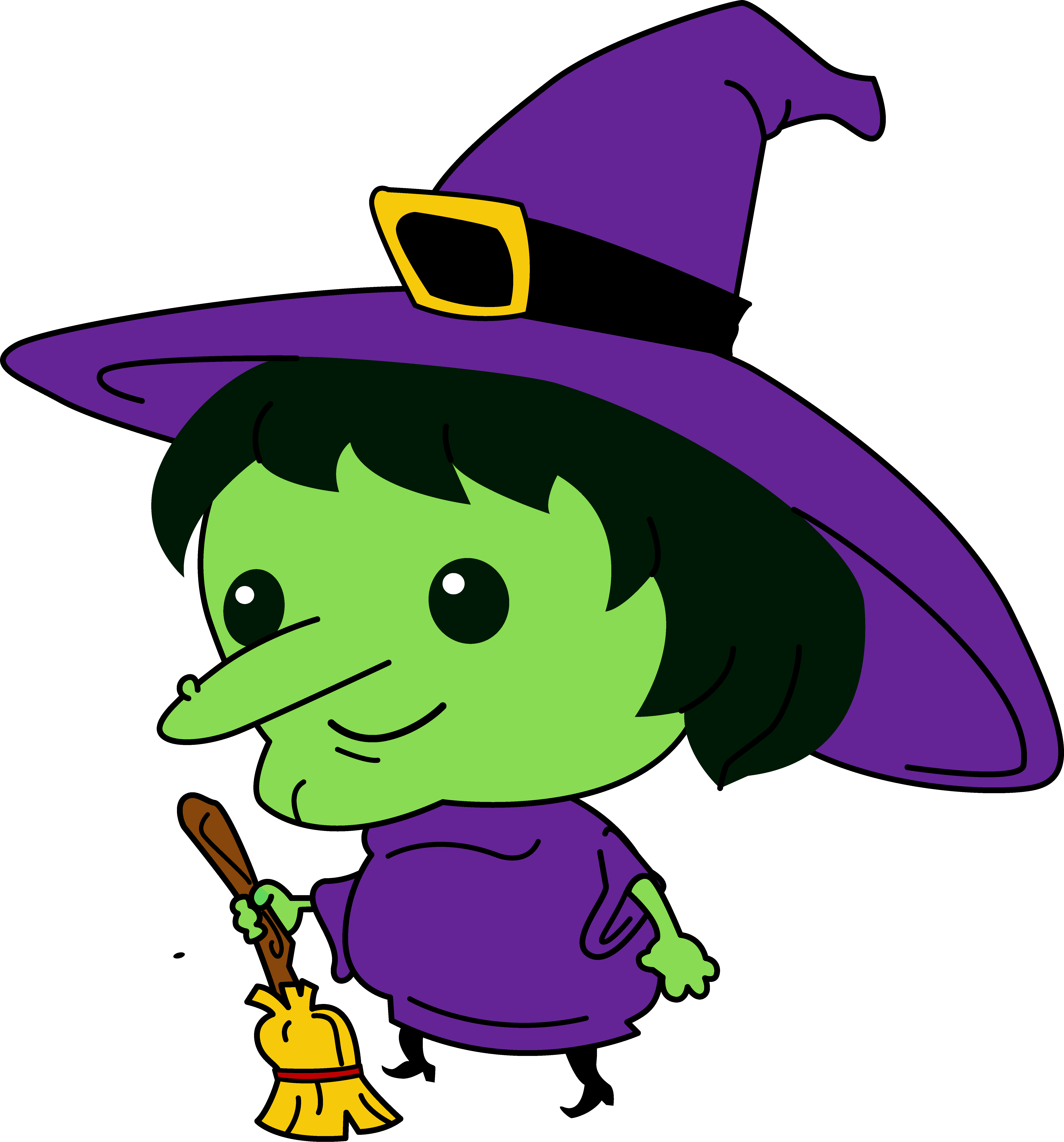 Witch Clip Art Free.