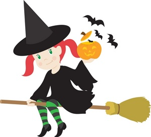Happy halloween witch clipart.