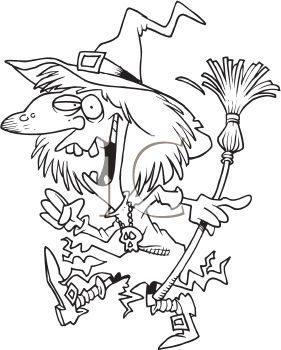 Witch clipart black and white 4 » Clipart Portal.