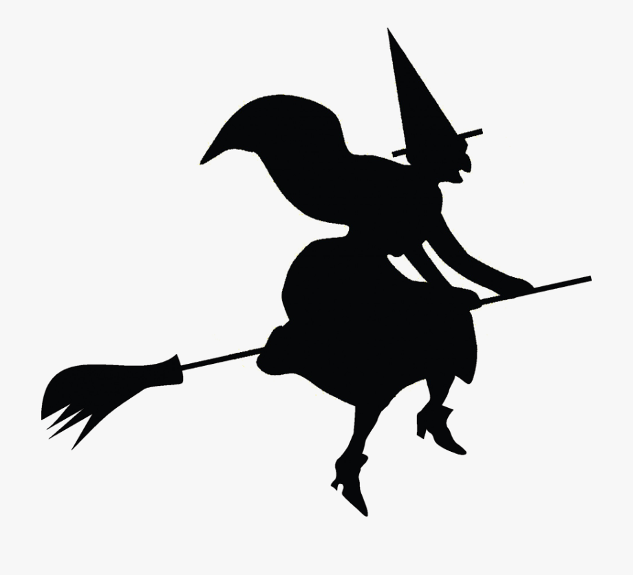 Witch\'s Cauldron, Halloween Clip Art Witch On Broomstick.