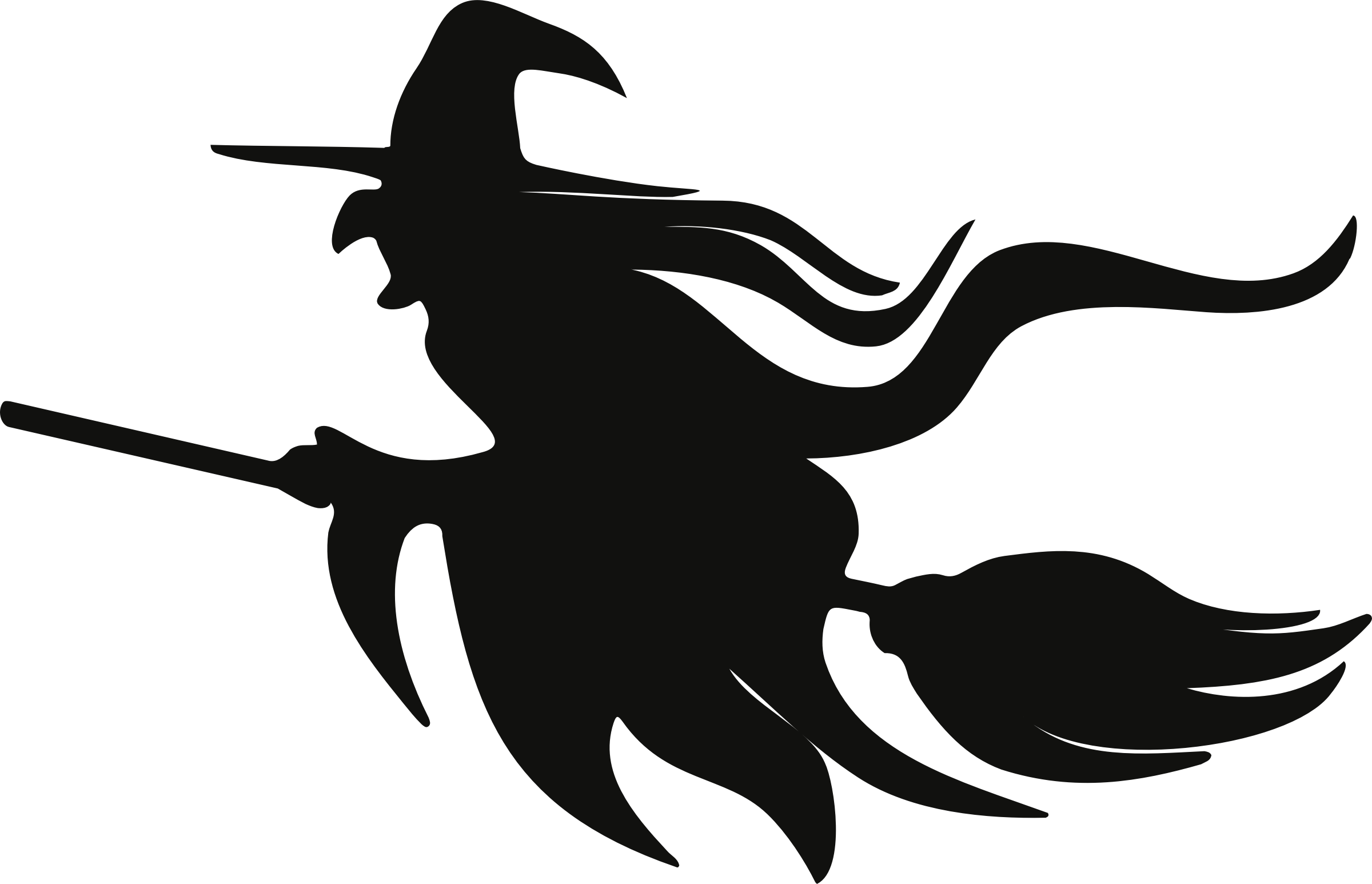 Witch Clipart Silhouette.