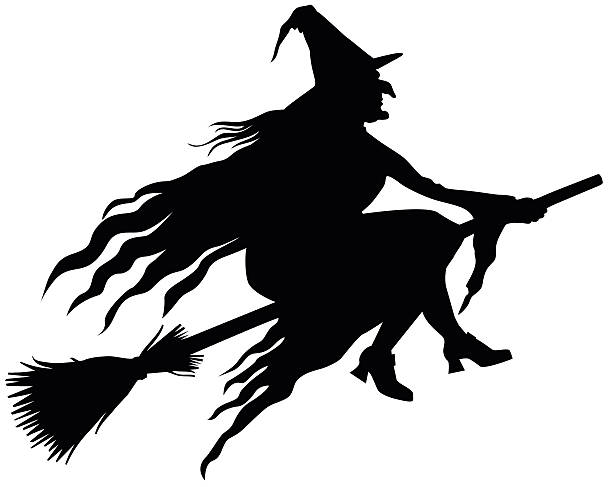 Witch Silhouette Clipart.