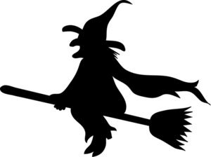 witch clipart silhouette #6