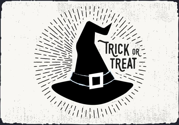 Witch Hat Trick or Treat Illustration.