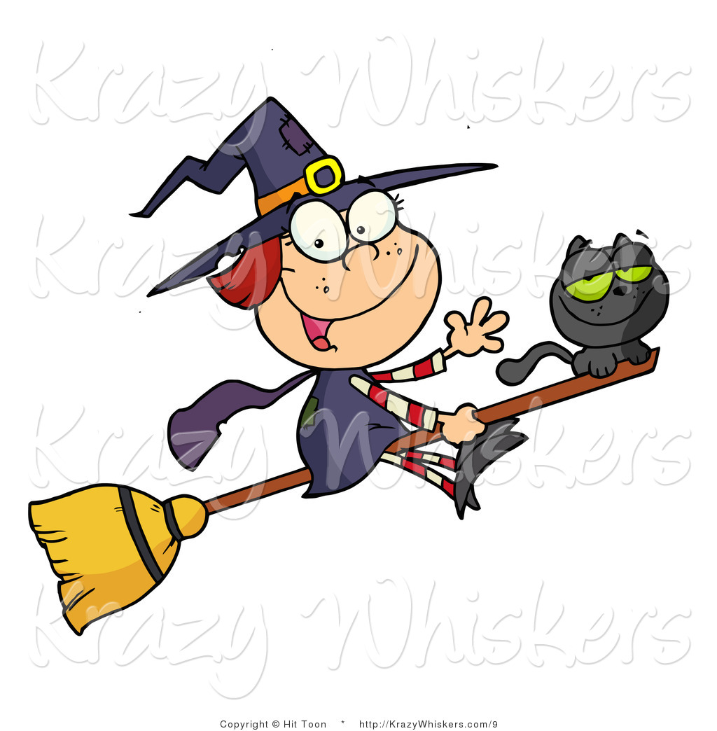 Friendly Witch Clipart.