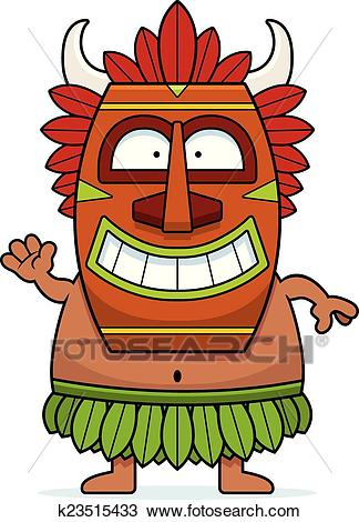 Waving Cartoon Witch Doctor Clipart.
