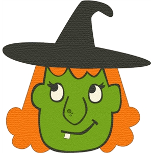 Witch Face Clipart.
