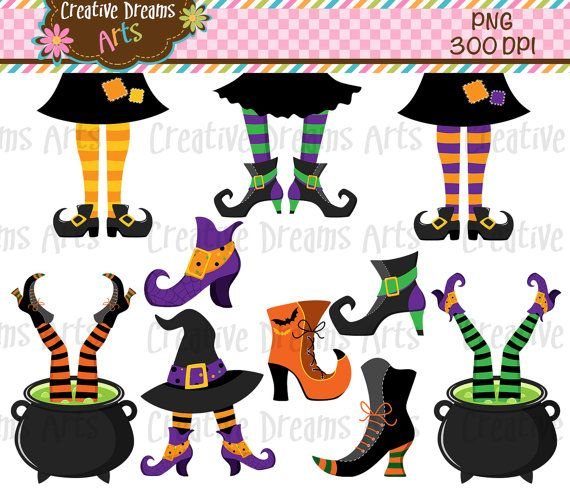 40% Off Witches Feet Clipart Instant Download in 2019.