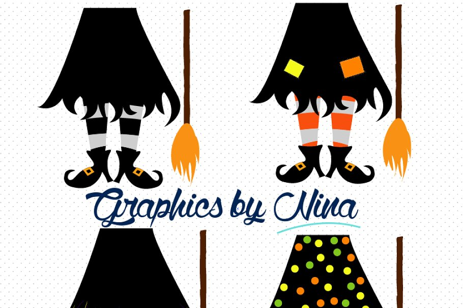 Witch Feet Clipart/Illustration.